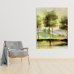 Canvas 36 x 48 - Trees near the lake