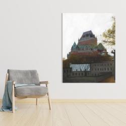 Canvas 36 x 48 - Le château de frontenac in autumn