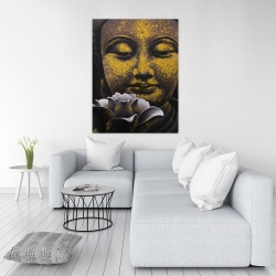 Canvas 36 x 48 - The eternal smile of buddha and his lotus