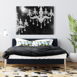 Canvas 36 x 48 - White chandeliers