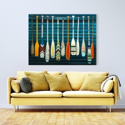 Canvas 36 x 48 - Paddles