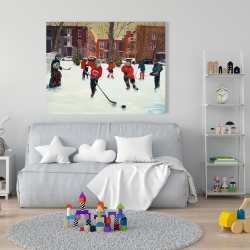 Canvas 36 x 48 - Young hockey players