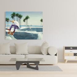 Canvas 36 x 48 - Skate park california