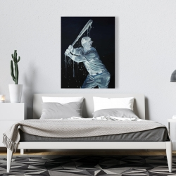 Canvas 36 x 48 - Baseball player