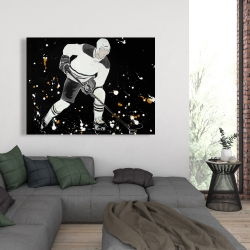 Canvas 36 x 48 - Hockey player in action