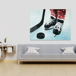 Canvas 36 x 48 - Young hockey player