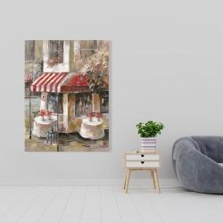 Canvas 36 x 48 - Sunny restaurant terrace