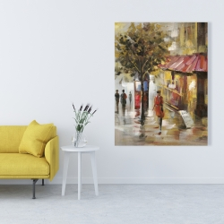 Canvas 36 x 48 - Abstract street with passers