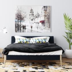 Canvas 36 x 48 - Gray city street