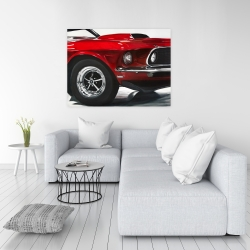 Canvas 36 x 48 - Classic red car