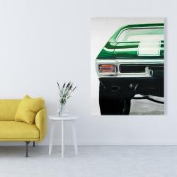 Canvas 36 x 48 - Classic dark green car