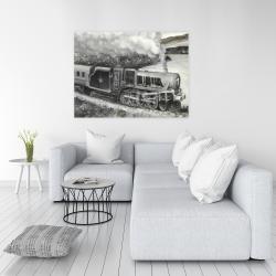 Canvas 36 x 48 - Vintage passenger locomotive