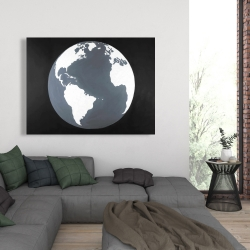 Canvas 36 x 48 - Earth satellite view