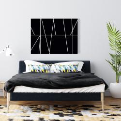Canvas 36 x 48 - White stripes on black background