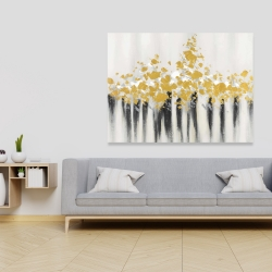 Canvas 36 x 48 - Abstract gold flowers