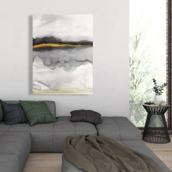 Canvas 36 x 48 - Gold stripe abstract