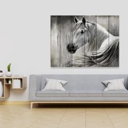 Canvas 36 x 48 - Rustic horse