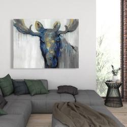 Canvas 36 x 48 - Blue moose