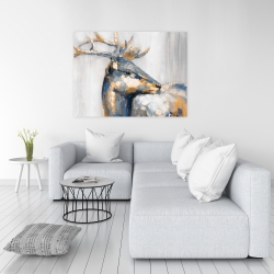 Canvas 36 x 48 - Golden deer