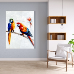 Canvas 36 x 48 - Parrots on a branch