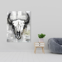 Canvas 36 x 48 - Industrial style bull skull
