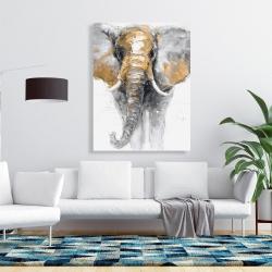 Canvas 36 x 48 - Golden elephant