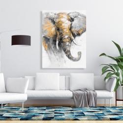 Canvas 36 x 48 - Beautiful golden elephant