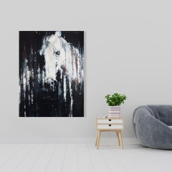 Canvas 36 x 48 - Abstract horse on black background
