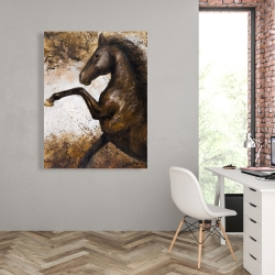 Canvas 36 x 48 - Horse rushing into the soil