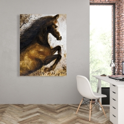 Canvas 36 x 48 - Horse rushing into the dust
