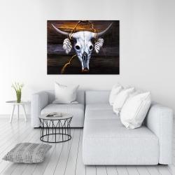 Canvas 36 x 48 - Hanged bull skull