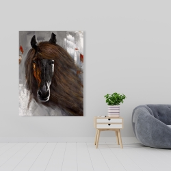 Canvas 36 x 48 - Proud brown horse