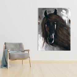 Canvas 36 x 48 - Dark brown horse