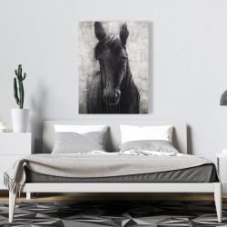 Canvas 36 x 48 - Black horse
