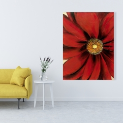Canvas 36 x 48 - Red daisy
