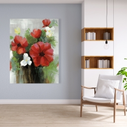 Canvas 36 x 48 - Abstract wild flowers bundle