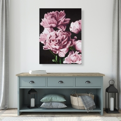 Canvas 36 x 48 - Pink peonies