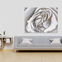Canvas 36 x 48 - White rose delicate