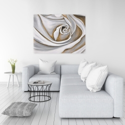 Canvas 36 x 48 - White rose closeup