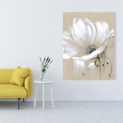 Canvas 36 x 48 - White abstract wild flower
