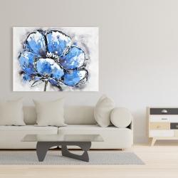 Canvas 36 x 48 - Abstract blue petals