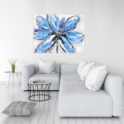 Canvas 36 x 48 - Blue flower
