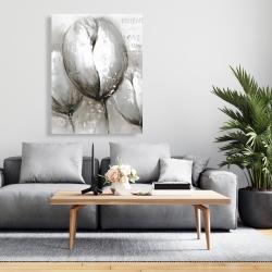 Canvas 36 x 48 - Three white tulips