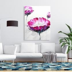 Canvas 36 x 48 - Pink wild flowers