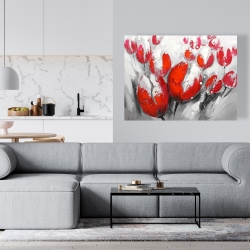Canvas 36 x 48 - Red tulips