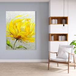 Canvas 36 x 48 - Yellow fluffy flower