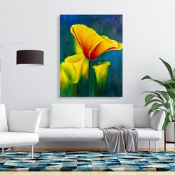 Canvas 36 x 48 - Beautiful colorful flowers