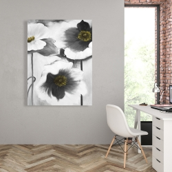 Canvas 36 x 48 - Black and white flowers