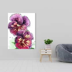 Canvas 36 x 48 - Two blossoming orchid with wavy petals