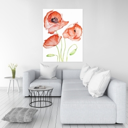 Canvas 36 x 48 - Watercolor poppies
